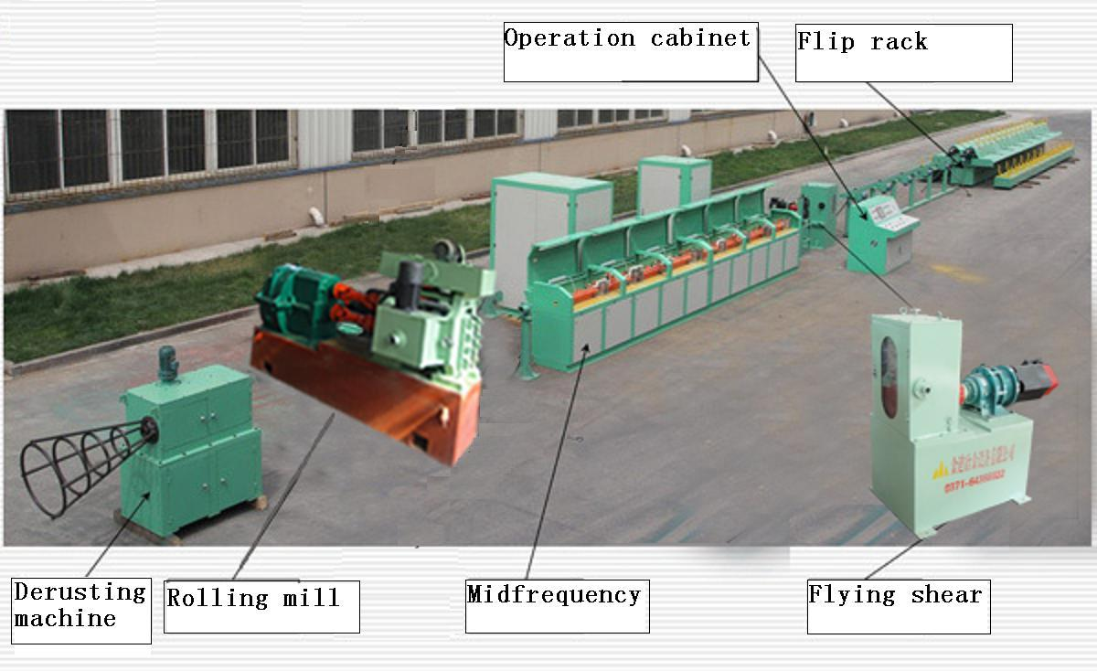 Production Line for Cold-Rolled Ribbed Steel Bar